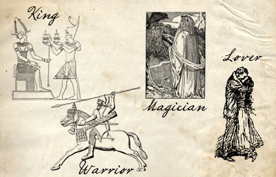 Archetypes of manhood masculinity king, warrior, magician and lover.
