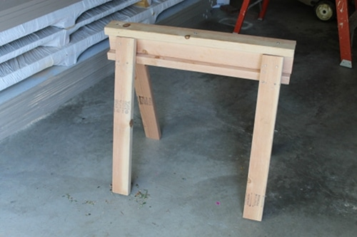 homemade sawhorse for garage work space diy toolmanship