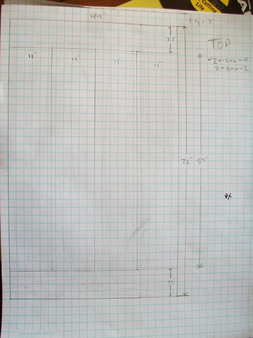 plans blueprints for homemade dining room table