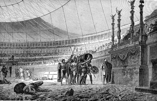 black while illustration gladiators looking upon royal throne