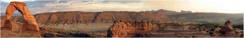 arches national park panorama utah desert