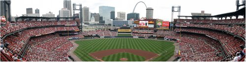 busch stadium cardinals st louis downtown panorama