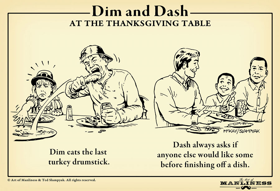thanksgiving table dinner etiquette taking food
