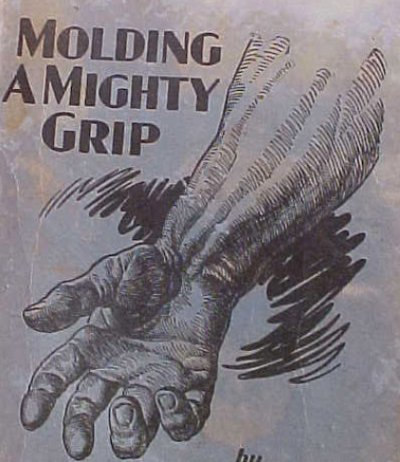 molding a mighty grip vintage strength ad advertisement