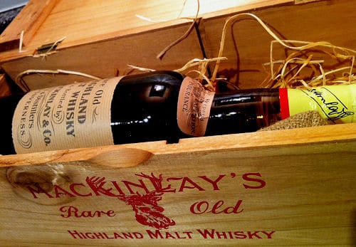 Malt whisky bottle in the box.