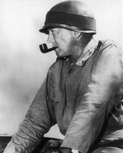 george s patton army helmet smoking pipe
