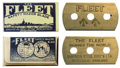 fleet razors razor blades concealed compass spy tools