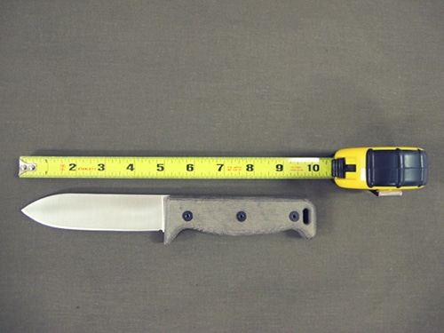 large survival knife 10 inches long tape ruler