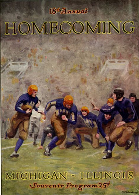 michigan illinois football game 18th homecoming souvenir program