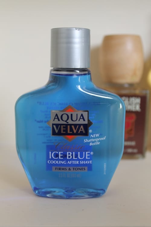 aqua velva ice blue aftershave bottle