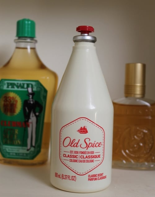 vintage old spice classic cologne white bottle