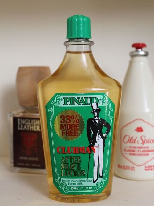 Pinaud clubman after-shave lotion bottle.