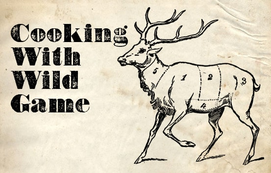 Cooking with wild deer illustration.