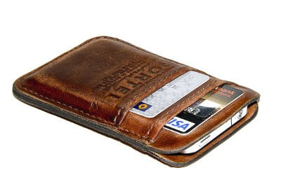 Portel Iphone wallet phone case and billfold.