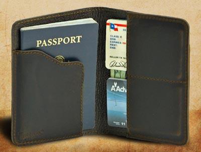Saddleback travel passport wallet.