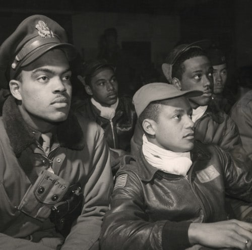 vintage african american pilots leather jackets and scarfs