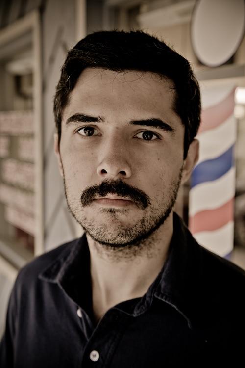 brett mckay scruffy full mustache straight razor shave
