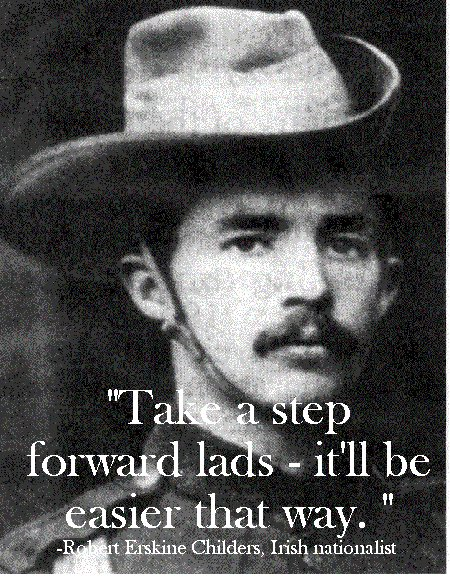 take a step forward robert erskine irishman famous last words