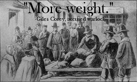 more weight giles corey famous last words witch trials