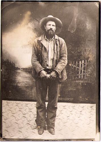 Vintage cowman portrait.