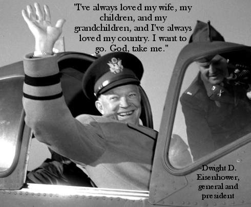dwight ike eisenhower last words god take me