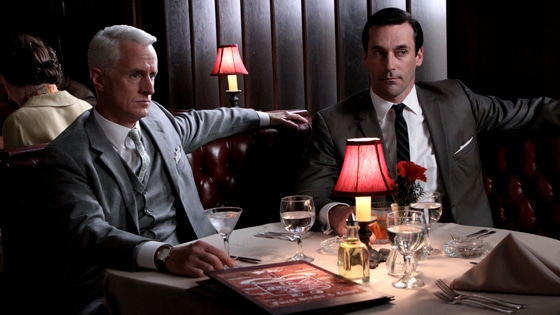 roger sterling don draper mad men lunch meeting