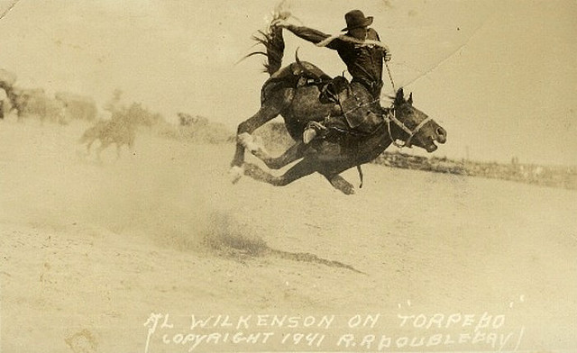Vintage rodeo in the field.
