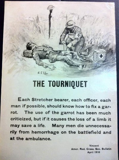 vintage military handbook manual how to apply tourniquet