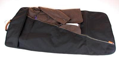 A man's garment bag.