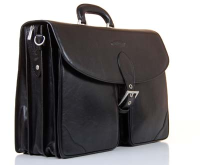 Briefcase Man Bag maxwells scott black leather