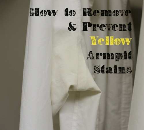 how to remove and prevent yellow armpit stains
