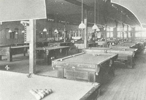 late 1800s vintage billiards pool hall