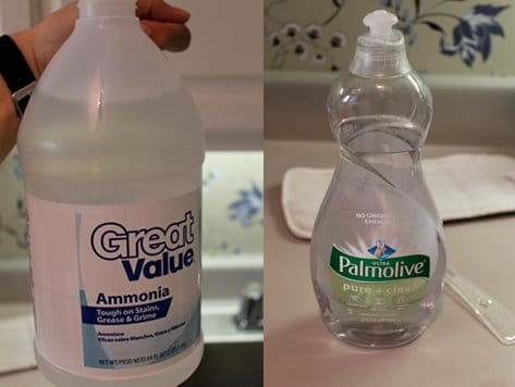 ammonia palmolive soap bottle remove yellow armpit stains