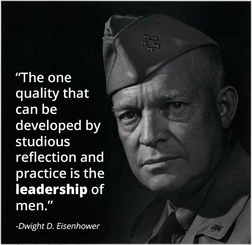 Motivational words by Dwight D Eisenhower.