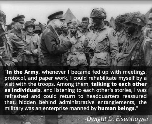 Motivational speech by Dwight D Eisenhower in battle.