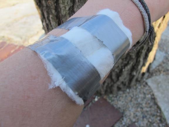 Vintage medical bandage illustration.