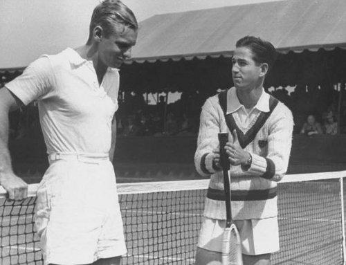 Athletics men wearing shorts for tennis game.