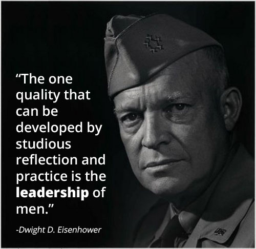 dwight eisenhower military portrait leadership quote
