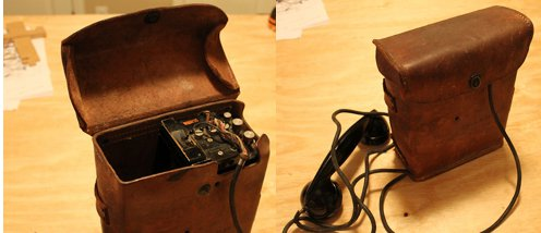 DIY homemade Bluetooth receiver from WW-II phone.