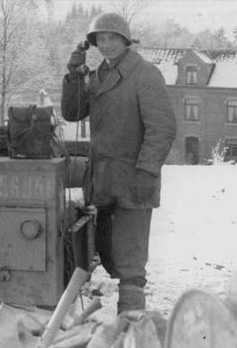 Vintage man calling illustration.