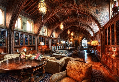 Vintage the libraries, studies, and writing rooms of 15 famous men.