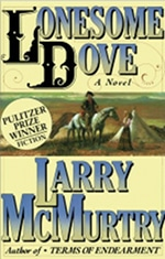 Book cover of Lonesome Doveby Larry McMurtry.