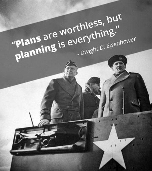 Vintage quote by Dwight D. Eisenhower.