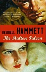 Book cover of The Maltese Falcon and The Thin Manby Dashiell Hammett.