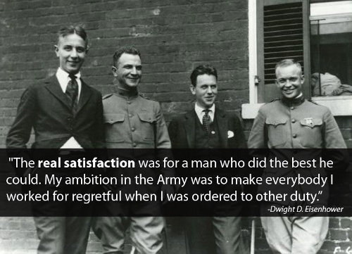 young dwight eisenhower with friends ambition quote