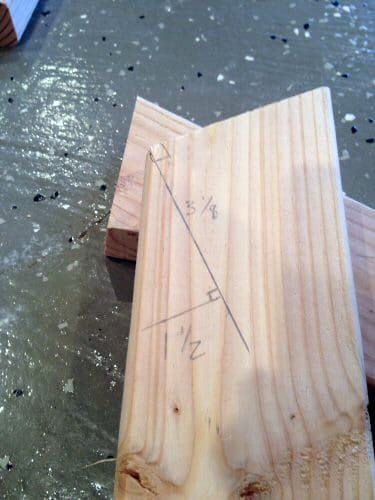 diy homemade wooden sawhorse measurements on wood