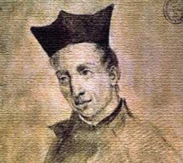 Baltasar Gracián wood engraving portrait 17th century Jesuit.