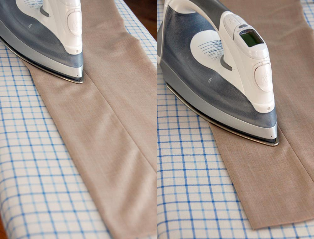 iron pant trousers ironing crease in legs
