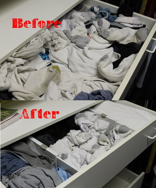 organizing dressers clothing drawers with dividers