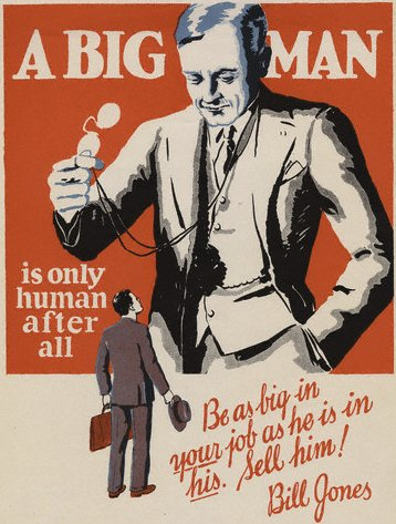 vintage motivational business poster big man